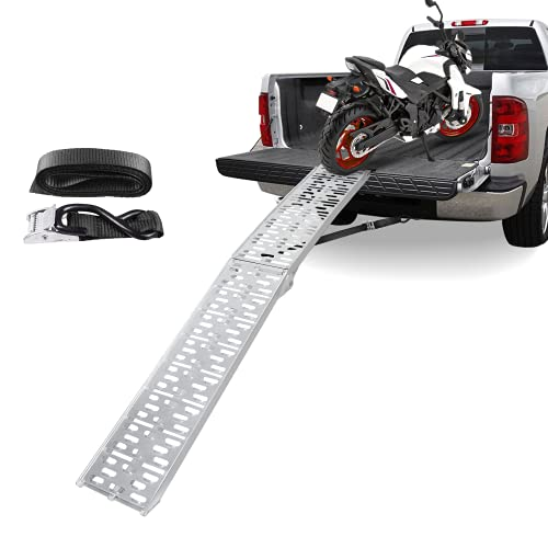 Motorcycle Ramp 7.5',Loading Ramp for Motorcycle ATVS,Aluminum Ramp,Dirt Bike Ramp,ATV Ramps,Vehicle Ramps,Light Ladders for Truck,Folding Ladder,750 lbs Capacity, 1 pc, Easy to Store,Long