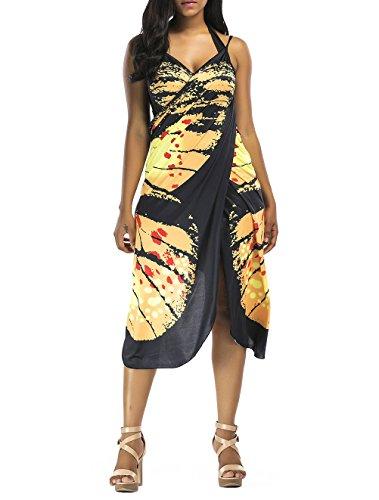 Bikini Cover Up Mujer Pareos Playa Verano Chic Vintage Mariposa Impresión Toalla...