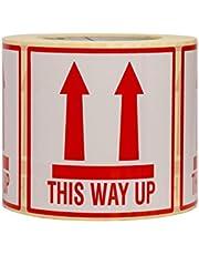 500 Etiquetas This Way Up Adhesivos De Advertencia De Objetos 10 x 10 cm