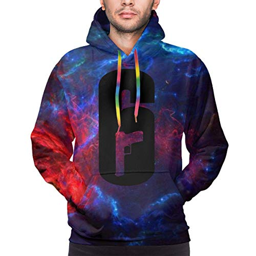 Hoodie-beiläufige Lange Hülsen-Sweatshirts, Rainbow Six Siege Mens Hoodies 3D Printed Personalise Graphic Pullover Hooded Sweatshirts
