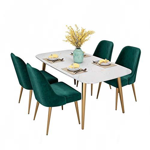 WINON Mesa de Centro Luz Europea de Lujo mármol Restaurante hogar pequeño apartamento Comedor Mesa Moderna Minimalista Rectangular Mesa de Comedor Mesa de Café