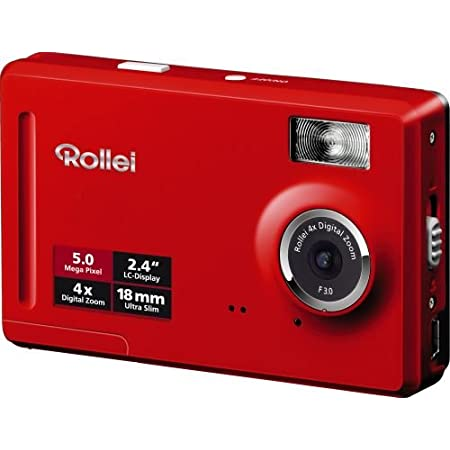 Rollei Compactline 50 Digitalkamera 2 4 Zoll Rot Kamera