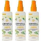 Crystal Essence Mineral Deodorant Spray, Chamomile & Green Tea 4 oz (Pack of 3)