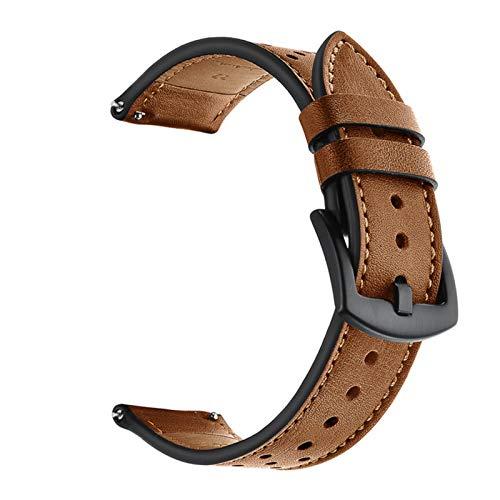 Adecuado para Galaxy Watch 46mm Huawei Watch GT Strap Silicone 22mm Strap SmartWatch Pulsera S3 (Band Color : Brown, Band Width : Galaxy Watch 46mm)
