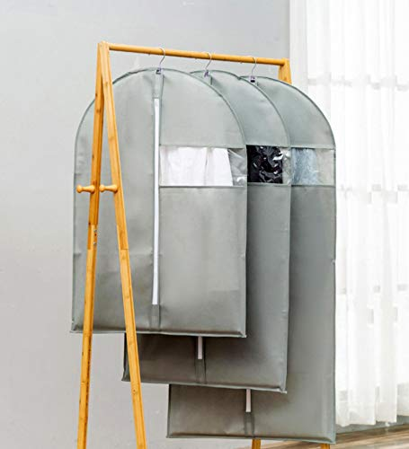 FEPDW Abrigo Multifuncional, Traje, Piel, Tela no Tejida, Ventana Transparente, Funda Antipolvo C60x130cm Gray