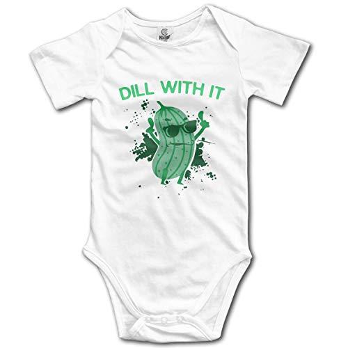 Dill with It Pickles - Mono de Manga Corta para bebés, niños y niñas, 0-24 Meses