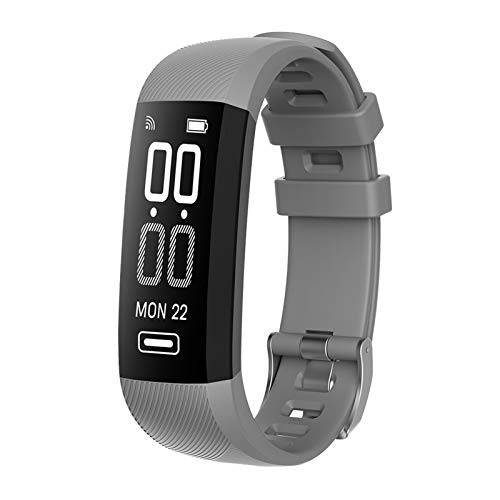 FFF8 Smart Wristband Cetropet Rate Fitness IP67 Impermeabile Previsioni Meteo Impermeabili Braccialetto Sportivo per iOS Android (Color : Gray)