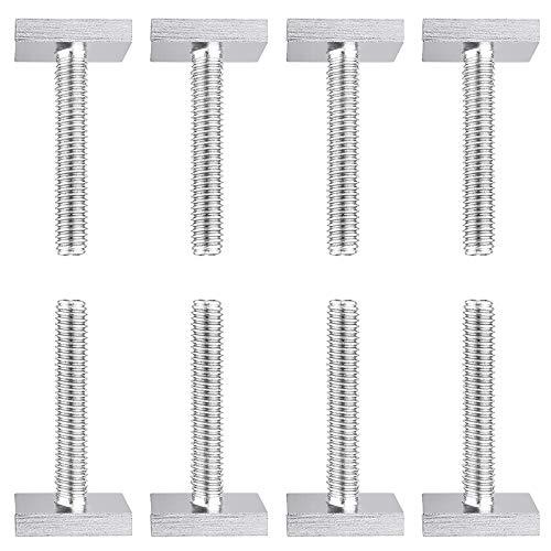 8Pcs Adaptador de Pista en T, Ranura en T, Adaptador de Ranura en T Caja de Techo, Barras deslizantes M6 portaequipajes, Soporte para rieles de Techo de 20 x 20 mm