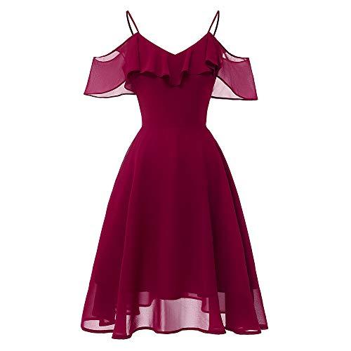 Review Mlide Woman Dresses Elegant, Vintage Princess Floral Lace Cocktail V-Neck Party Aline Swing D...