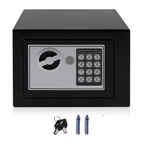 Elektronische kluis met digitaal toetsenblokvergrendeling 4.6L Mini sieraden opbergkoffer zwart