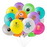 SUNBEAUTY Decoration Anniversaire Monstre Ballon 16pcs pour Bebe Fille Garcon Enfant Chambre Creche Deco