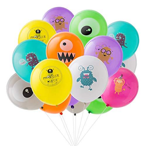 SUNBEAUTY Monster Party Luftballons Deko Monster Geburtstag Dekoration Ballons Kindergeburtstag