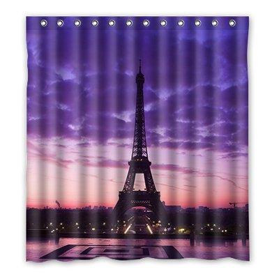Dalliy Brauch eiffelturm Wasserdicht Polyester Shower Curtain Duschvorhang 167cm x 183cm
