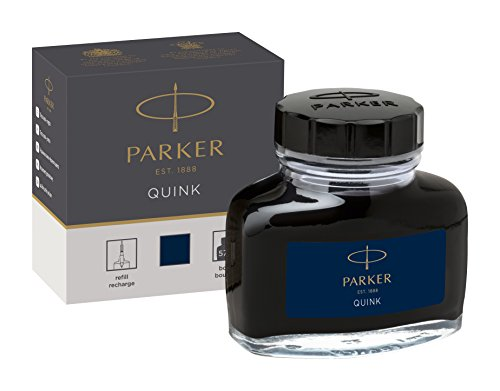PARKER QUINK Ink Bottle, Blue-Black, 57 ml