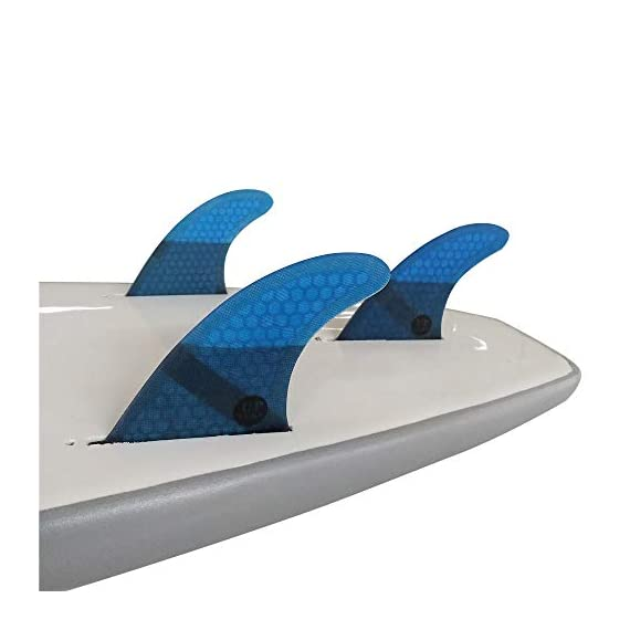 UPSURF Surfboard fin Future Basic Fin Medium Size, G5 tri Fin 3 Thruster fin set (3-Fin) For all-around balanced surfing Compatible with FUTURE