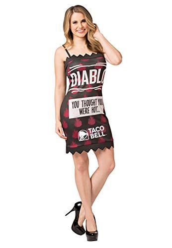 Taco Bell - Disfraz de Diablo, Tallas S-XL - Negro - XL
