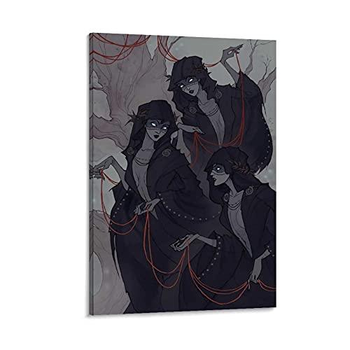 Nornens affisch dekorativ målning kanvas väggkonst vardagsrum affischer sovrumsmålning 30 x 45 cm (12 x 18 tum)