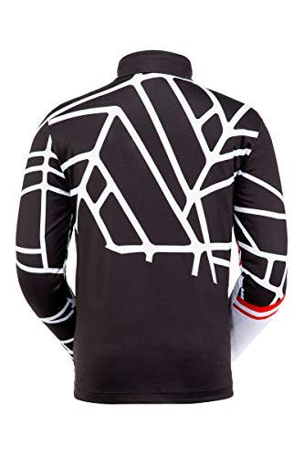 Spyder Herren Vital Zip T-Neck, Herren, Vital Zip T-Neck, schwarz/weiß, XX-Large