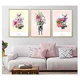 Chenjiaxu 装飾寝室保育園壁アートキャンバスポスターと絵画北欧キッズスタイル写真の装飾ベビーギフト40×60センチ×3フレームなし
