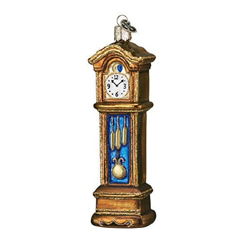 Old World Christmas Grandfather Clock Glass Blown Ornament