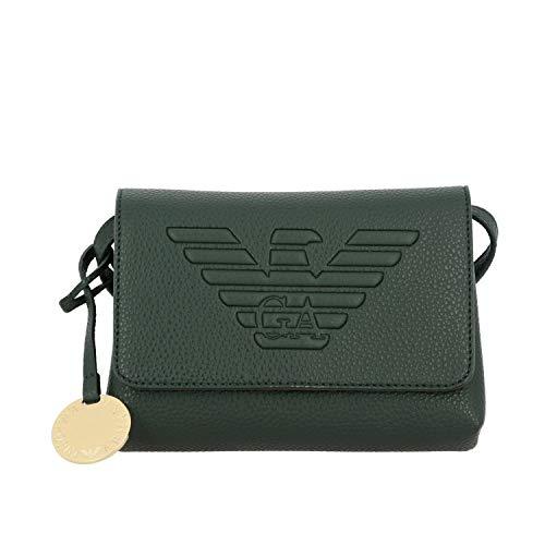 Luxury Fashion | Emporio Armani Dames Y3E148YGF8B80004 Groen Polyurethaan Schoudertassen | Herfst-winter 19