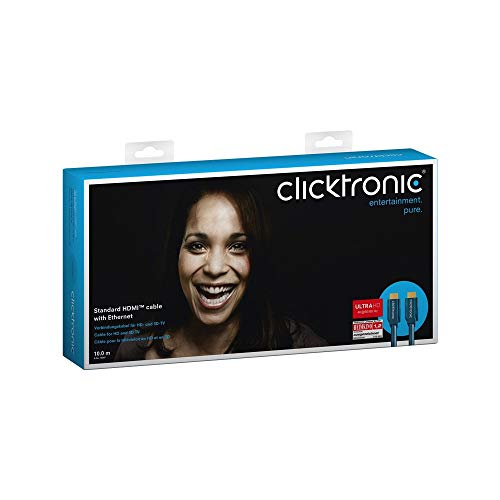 Clicktronic Casual HDMI Kabel mit Ethernet, 4K Ultra HD, ARC, 3D TV, 10.0 m