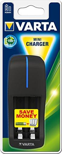 Oferta de Varta Mini Charger - Cargador de Pilas NiMH AA y AAA, negro
