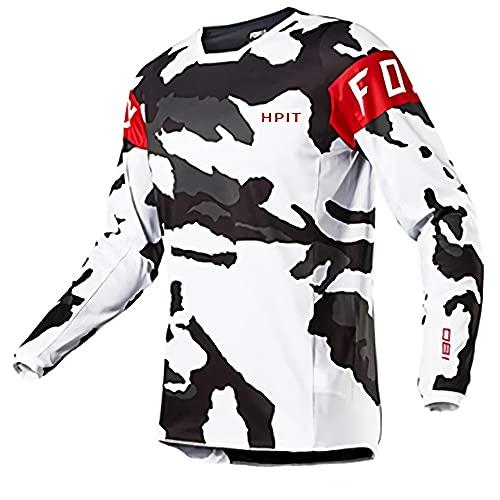 MTB Enduro Jersey,Motorrad Mountainbike Team Downhill Jersey MTB Offroad Fahrrad Lokomotive Shirt Hpit Fox Jersey Cross Country Mountain In Männer Sport & Fitness Kleidung Sport Outdoor Unisex XL