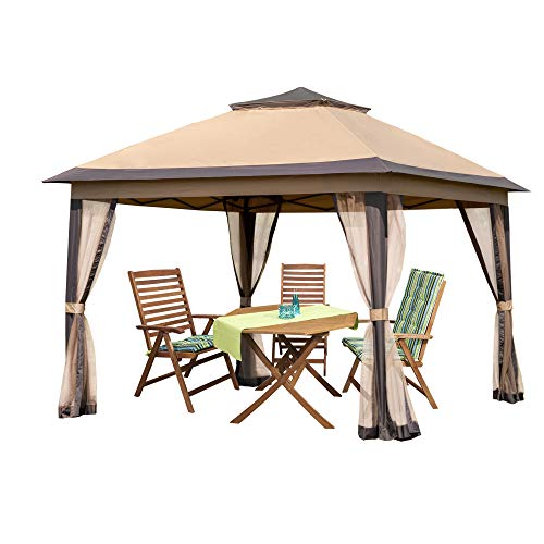 PAMAPIC 11x11 Outdoor Gazebo for Patios Canopy for...