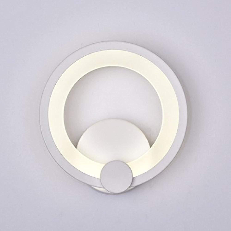 GYR Acrylic Circular LED Wall Bedroom Wall Lamp Creative Simple Modern Aisle Corridor Corridor Lights,L