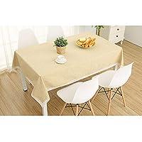 防水性、防水性、耐油性、耐熱性の北欧コットンリネン テーブルクロス (Color : Beige, Size : 150*150CM)