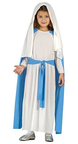 Guirca- Disfraz infantil de Virgen María, Color azul, 7-9 años (42468.0)