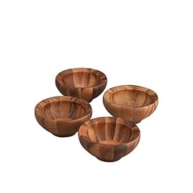 Nambe Yaro Individual Salad Bowl, Set of 4