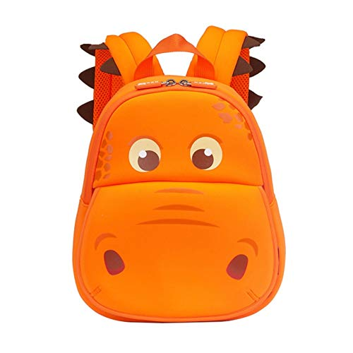 \t Kids Cute Dinosaur Backpack For Girls Boys Kindergarten School Back Bags Outdoor Daypack Orange