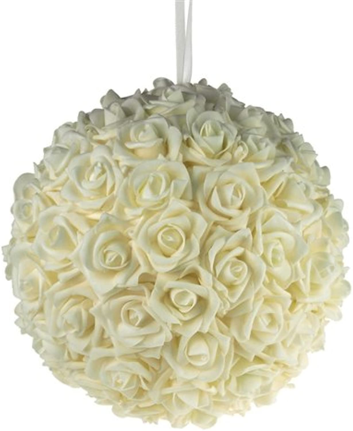 Homeford Firefly Imports Soft Touch Foam Kissing Ball Wedding Centerpiece, 12-Inch, Ivory,