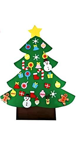 Unique Store Filz Weihnachtsbaum, 95cm DIY Weihnachtsbaum Dekoration mit 26Pcs Abnehmbaren hängenden Ornamenten - DIY Dekoration Hängend Dekor für Kinde