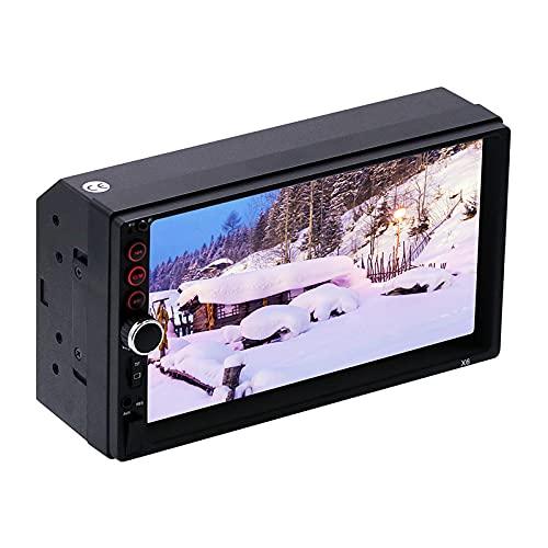 ZWMBAOR Car Mp5 Player,Imagen Marcha Atrás Coche Táctil 7 Pulgadas,Compatible con Interconexión Teléfono Móvil Sistema Dual,Se Puede Controlar con El Volante para Cortar Canciones