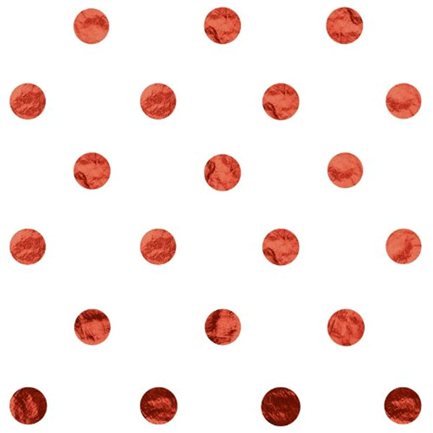 Jillson Roberts 24 Sheet-Count Hot Stamped Tissue Paper Available in 7 Colors, Metallic Red Dots