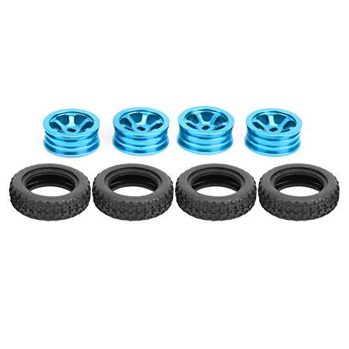 Presente románticoBuje de rueda central RC, Buje de rueda de metal RC, Durable 20 mm de diámetro 8 piezas Aleación de aluminio + Caucho 1/28 Coche RC para WLtoys K989(blue)