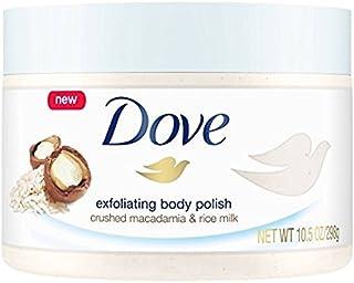 Dove Exfoliating Body Polish, Macadamia & Rice Milk, 10.5 oz (Pack of 2)