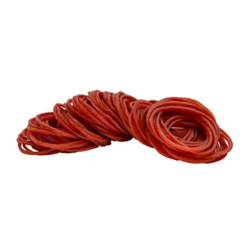 500 rubberen banden van rood rubber diameter 40 mm breedte 1,4 mm dikte 1,4 mm PangoPack kantoor verpakking rood