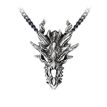 Alchemy Gothic Dragon Skull Pendant  Metal-Wear