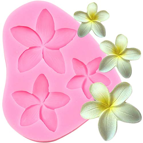 3-Cavity Silicone Flowers Shaped Mold,Handmade Candy Chocolate Fondant Mould Cake Decorating Tools