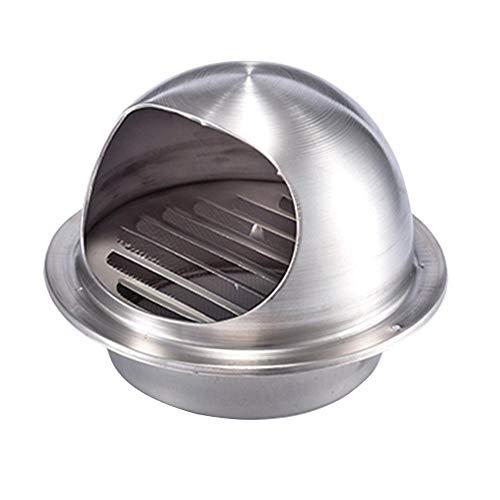 LHSOO Ventilaciones de aire acondicionado Campana extractora de acero inoxidable 100/120/150/200/250 mm, orificio de escape, tapa de ventilación de pared externa, ventilador de ventilación de ven
