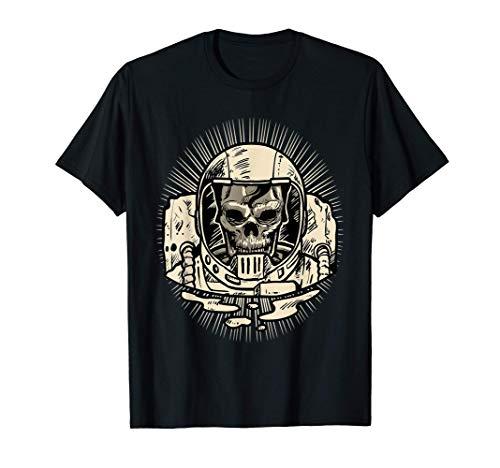 Rock n Roll Esqueleto Zombie Calavera Halloween Astronauta Camiseta