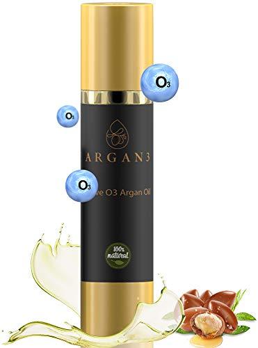 Argan3 100% reines EU Bio Arganöl mit innovativer Anti-Aging Ozon-Formel wirkt revitalisierend für Haut & Haar - hochwirksame Naturkosmetik im dosierbaren Pumpspender (100ml)