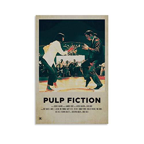 SDFWE Pulp Fiction 11 - Poster da parete con cornice ad olio stampata su tela per decorazioni domestiche, per soggiorno, camera da letto, pronta da appendere, 30 x 45 cm