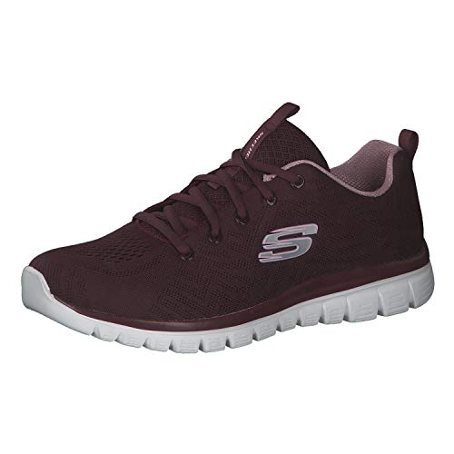 Skechers 12615, Graceful-Get Connectede, Sneaker Donna Memory Foam, Wine (39 EU)