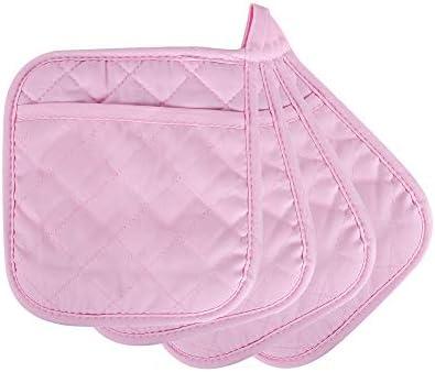 ARCLIBER Pot Holders 4PCS Heat Resistant Hot Pads Non Slip Rubber Surface Design Cotton Infill product image