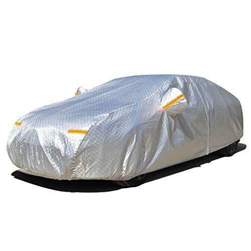 Yxsd Drie-laags Waterdichte All-weather Auto Met Katoen Rits Zon Uv Regen, Auto Cover, Zonneschaduw, Coat Carport, Zonwering, Regen, Zonneschaduw, H6 Auto Cover Doek